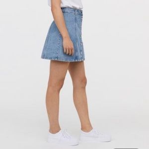 H&M Denim Skirt with Buttons